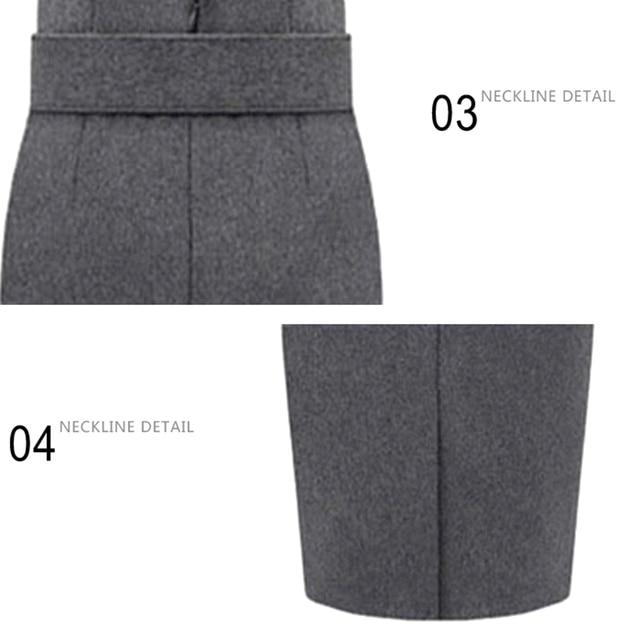 Women's Winter Warm Straight High Waist Skirts 2019 Fall Bodycon Pencil Long Skirts Plus Size S-3XL Female Elegant Slim Skirts 6