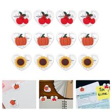 12 Pcs Lovely Cartoon Shaped Office Clips Transparent Plastic Clips for Students (Assorted Color)