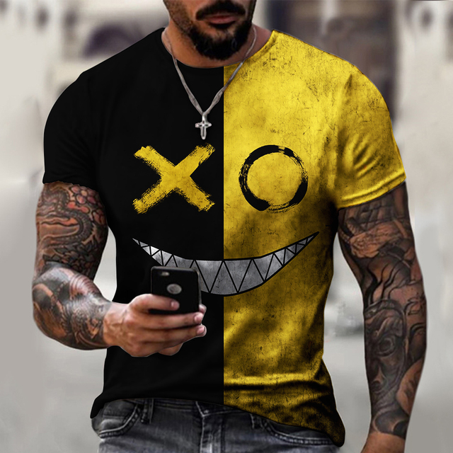 3d Printed t-shirt fashion men's street casual sports shirt male O-neck