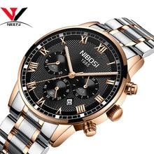 NIBOSI Latest Luxury Brand Watch Fashion Rose Gold Elegant Men's Watch Waterproof Relogio Masculino Men's Best Quartz Watch