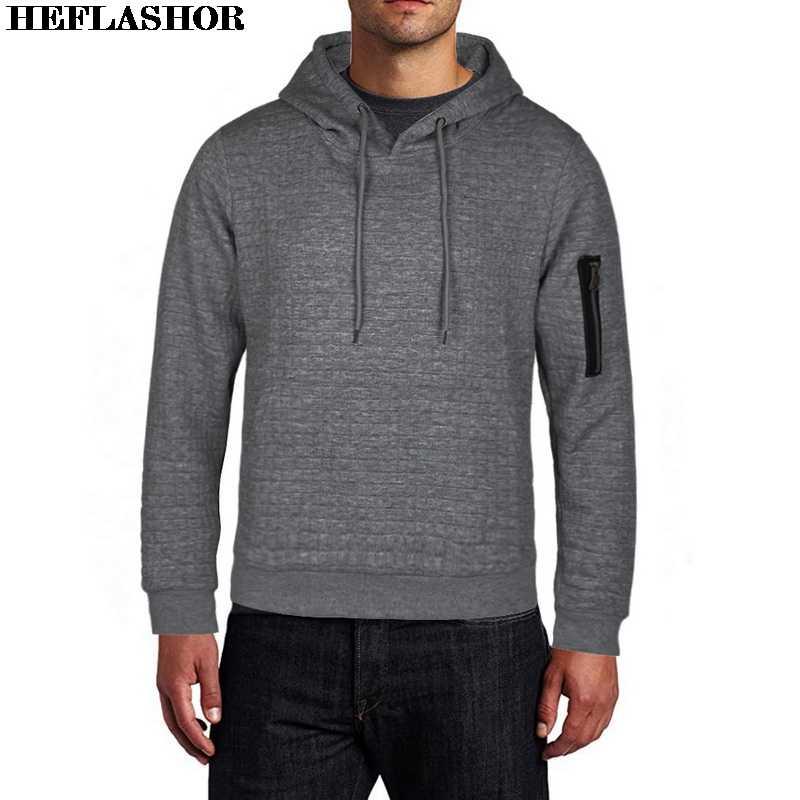 秋の新付き固体プルオーバースリムフィットジャンパー男性カジュアルパーカー冬暖かいストリートファム男性服 4XL