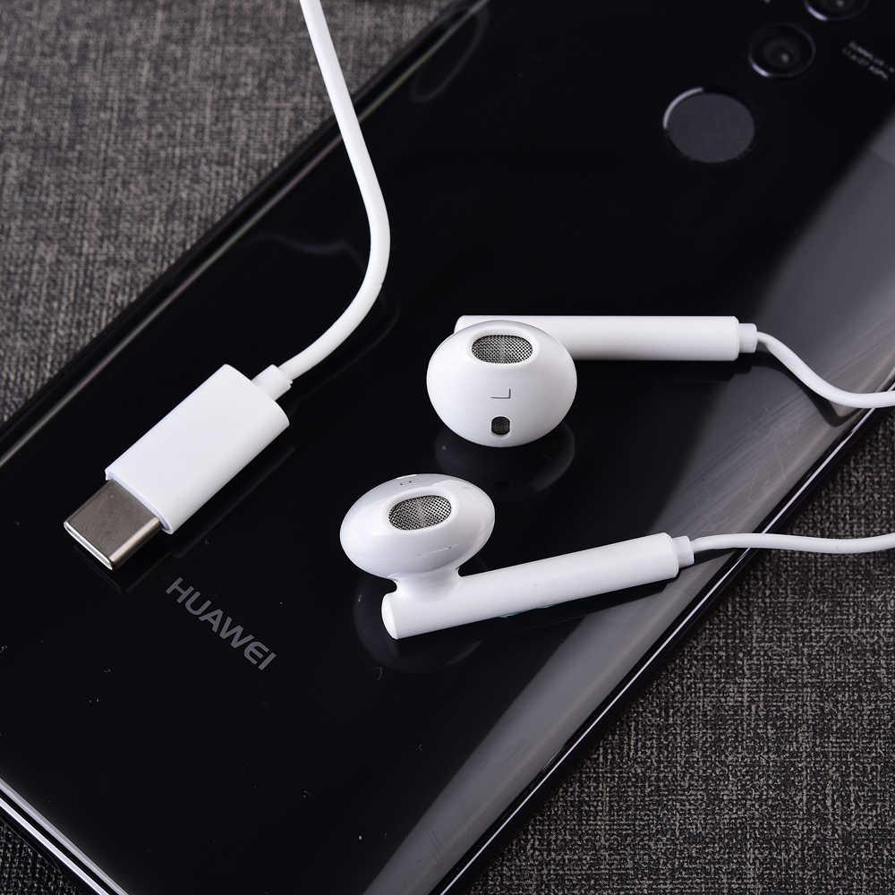 Orijinal Huawei C tipi kulaklık usb-c kulak içi mikrofonlu kulaklık CM33 için P20 P30 Pro Mate 10 20 pro Mate RS onur not 10