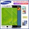 Tela touch screen lcd a310f, display de substituição para samsung galaxy a3 2016 a310 a310f, balck/white, lcd