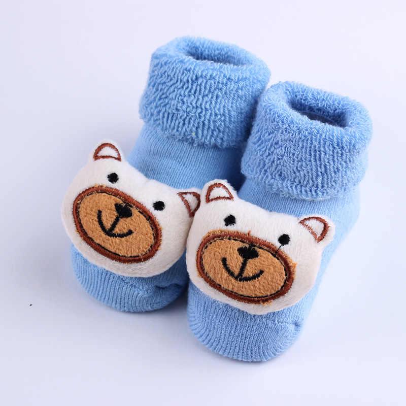 Calcetines lindos de dibujos animados para bebés recién nacidos niños gruesos calcetines para bebé y niñas niños antideslizantes calcetines calientes de invierno zapatos botas calcetines Kawaii
