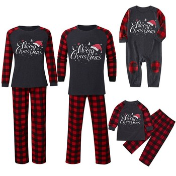 2020 Family Matching Christmas Pajamas New Year Mom And Daughter Mother Daddy Baby Girl Boy Family Family Look Christmas Clothes image