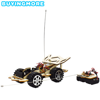 цена на Remote Control Phantom Racing Model Kit Car Toy for Boys DIY Manual Assembly Wooden Model Electric Robotics Educational Kits Car