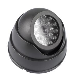 Dummy Dome Fake Surveillance Security Camera CCTV Flashing Red LED Light Indoor