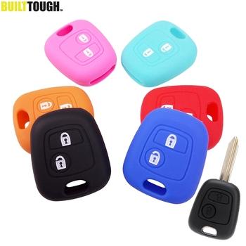 2 przycisk klucz silikonowy pokrywa pasuje do Citroen C1 C2 C3 C4 Xsara Picasso Peugeot 106 107 206 207 307 Aygo zdalnego przypadku Fob tanie i dobre opinie XUKEY CN (pochodzenie) 106g 80 (L) x 36 (W) x 16 (T) 3 1 (L) x 1 4 (W) x 0 6 (T)