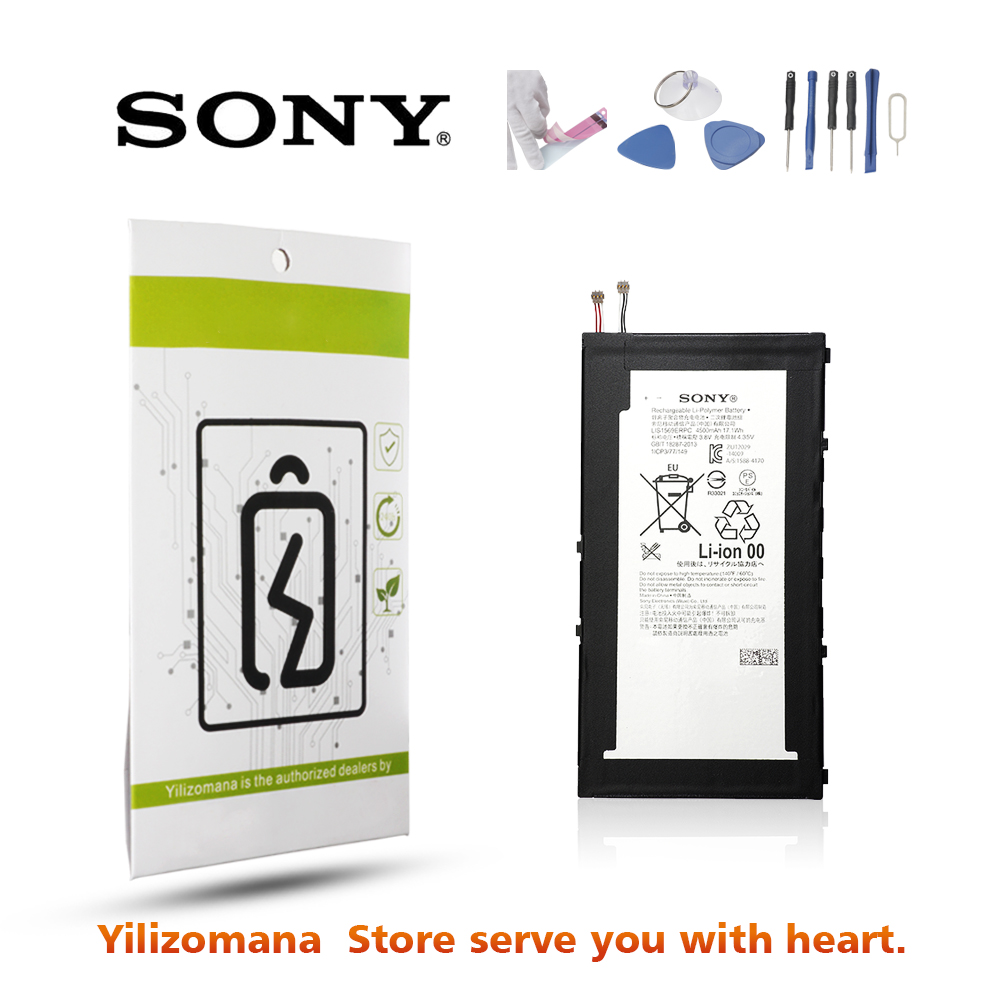 SONY Original LIS1569ERPC Phone Battery 4500mAh For Sony Xperia Tablet Z3 Compact SGP611 SGP612 SGP621 Replacement Batteria in Mobile Phone Batteries from Cellphones Telecommunications