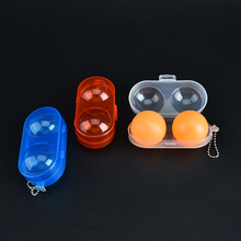 1PCS Table Tennis Ball Container Box Case 3 Colors 10x5x4cm Plastic Ping Pong Ball Storage Box Table Tennis Accessories