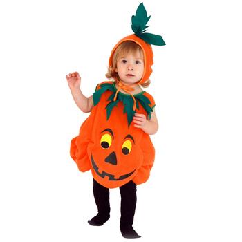 Nowy Halloween Baby Kids dynia fantazyjny kombinezon bez rękawów z kapeluszem ubrania przebranie na karnawał dla chłopca tanie i dobre opinie Swokii Dziewczyny Pasuje prawda na wymiar weź swój normalny rozmiar Cartoon Oddychające Children Sportswear O-neck COTTON