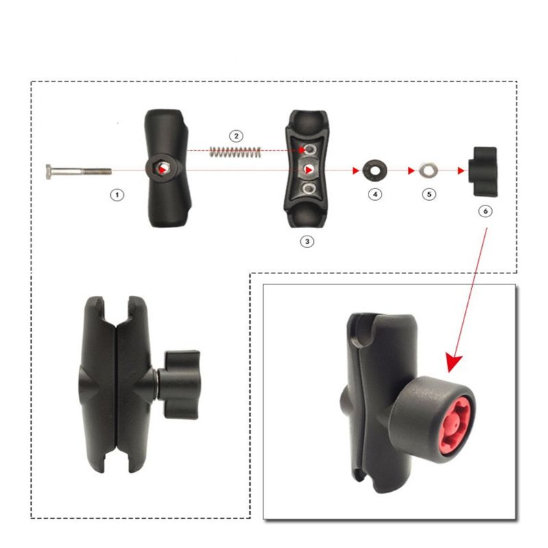 Anti Theft Pin-Lock Security Knob Key for RAM Mount 1
