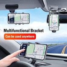 FONKEN אוניברסלי משודרג מראה אחורית מחזיק רכב טלפון נייד Stand לוח מחוונים Rotatable טלפון סלולרי ניווט GPS בעל