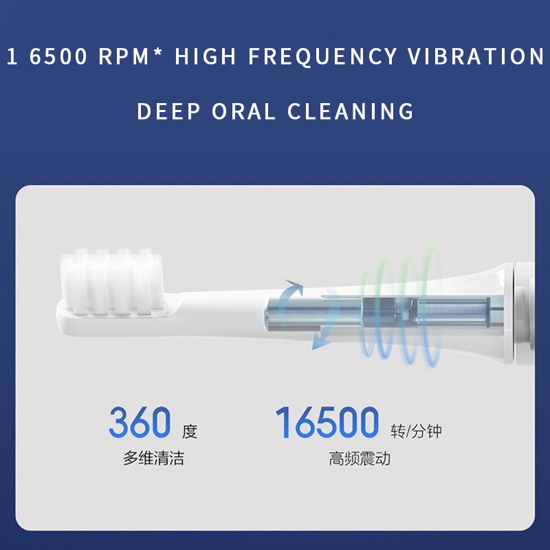 Xiaomi Sonic Electric Toothbrush ultrasonic automatic toothbrush Cordless USB rechargeable waterproof teethbrush xiaomi MIJIA 5