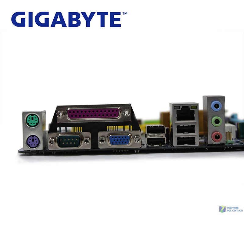 LGA 775 G31 DDR2 Gigabyte GA-G31M-ES2C 100% เมนบอร์ด USB2.0 4G G31M ES2C เดสก์ท็อป SATA II Systemboard G31M-ES2C PCI-E X16 ใช้