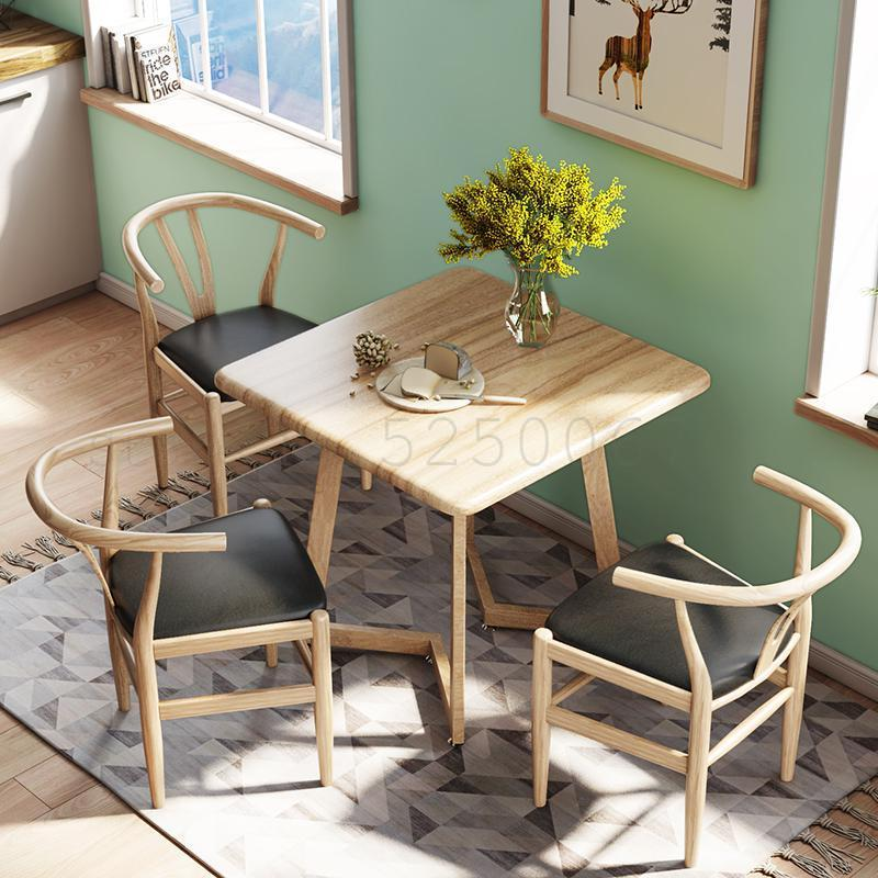 Nordic Dining Table And Chairs Simple Square Table 2 People 4 Home Eating Table Small Apartment Nordic Table Aliexpress