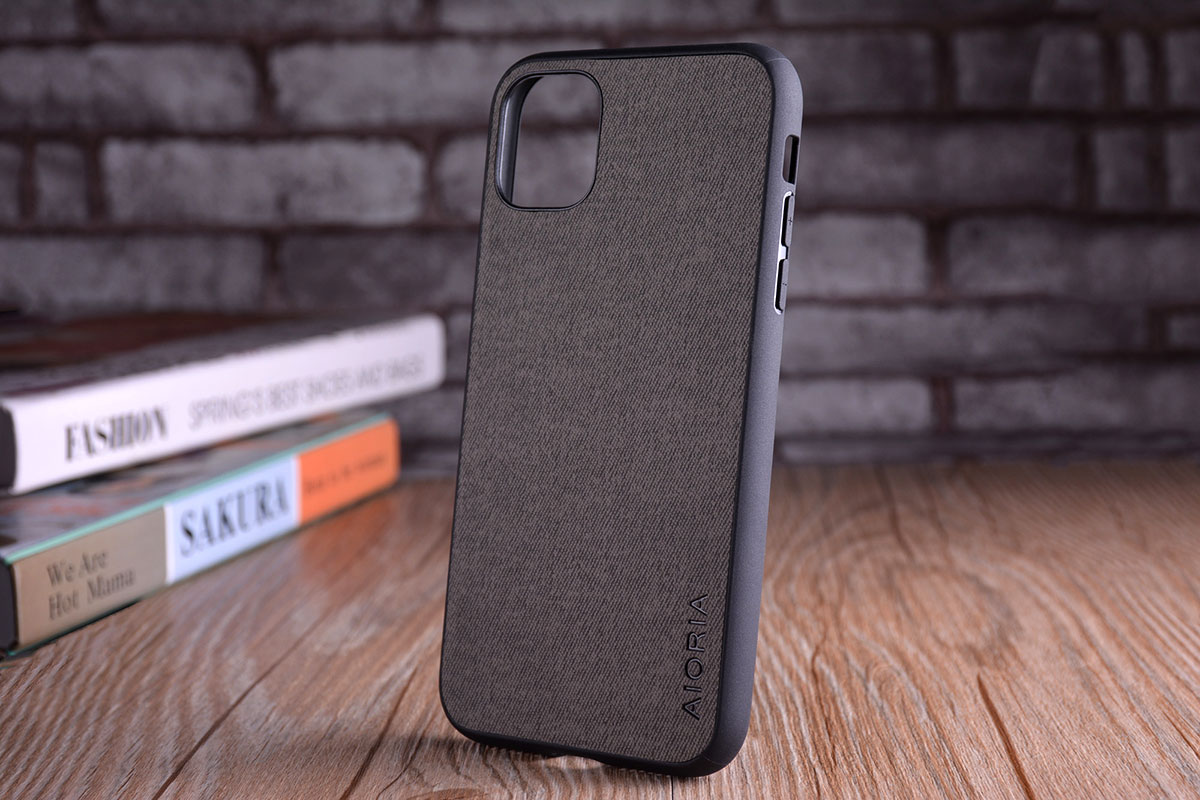 Luxury Textile Leather Skin Soft TPU hard PC Phone Cover for iPhone 11 pro max 9