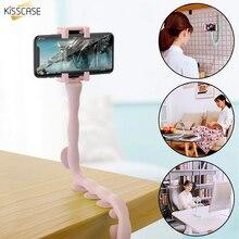 KISSCASE гибкий держатель для мобильного телефона для iPhone 11 Pro Max 7 8 6s Plus Настольный настенный мощный держатель на присоске для Xiaomi