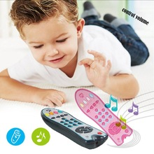 Baby Colorful Music Mobile Phone Toys Electric TV Remote Control Numbe