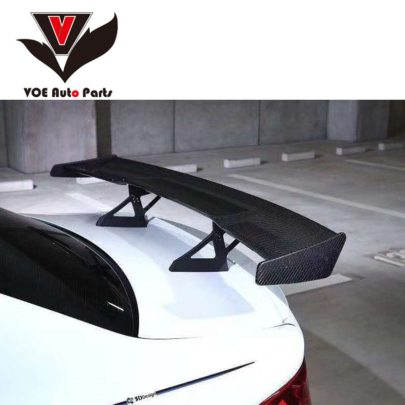 <font><b>E21</b></font> <font><b>E30</b></font> E36 E46 E82 M1 M3 3D-style Carbon Fiber Car-styling Sporty Rear Trunk Wing Spoiler Boot Decoration for <font><b>BMW</b></font> <font><b>E21</b></font> <font><b>E30</b></font> E36 image