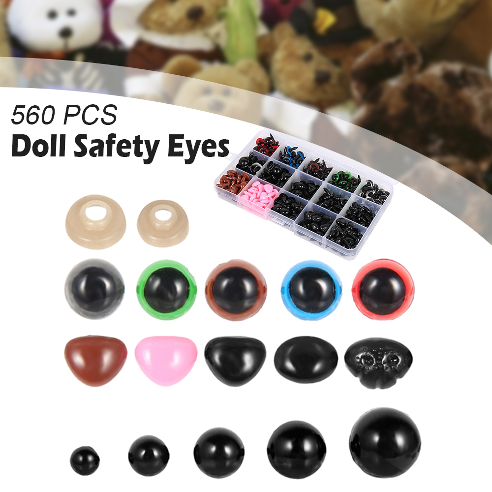 100 Pcs 6-12 Mm Ojos De Seguridad De Plástico,Fabricación De Muñecas De Ojo E5Y1