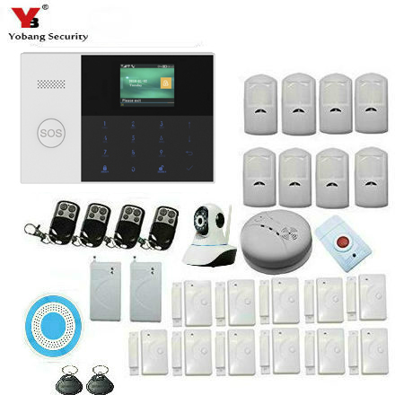 Yobang Security GSM GPRS SMS Alarm Systems WIFI Security Alarm System IP Video Surveillance Camera Panic Wireless Home Alarmes