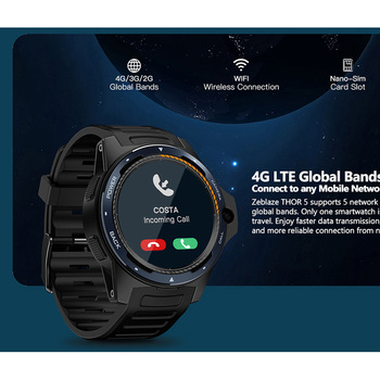 "Zeblaze THOR 5 Smart Watch Men Dual System 2GB+16GB 1.39"" AMOLED Screen 454*454px 8.0MP Camera GPS WiFi Bluetooth 4.0 Smartwatch 2"
