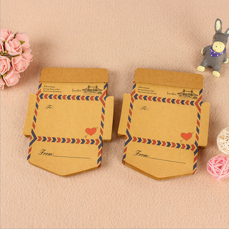 Retro Vintage Kraft Paper Envelopes Mini Gifts Cute Kawaii Letter Envelope Cartoon Stationery Post