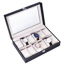 12 отсеков верхний уровень открытие стиль кожа часы коллекция