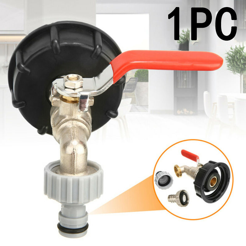 IBC Tank Adapter S60X6 To Brass Tap 1/2 Replacement Valve Fitting Parts Durable|Garden Water Connectors| |  - title=