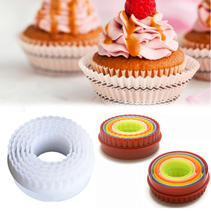 Set of 6 Round Cookie Cutters Biscuit Fondant Cutting Mold Baking Tools Biscuit Cutter Set Fondant Cake Cutting Mold