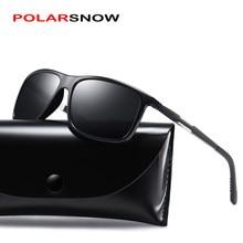 POLARSNOW – lunettes de soleil polarisées pour homme, verres solaires de marque de styliste rétro pour conducteur, UV400