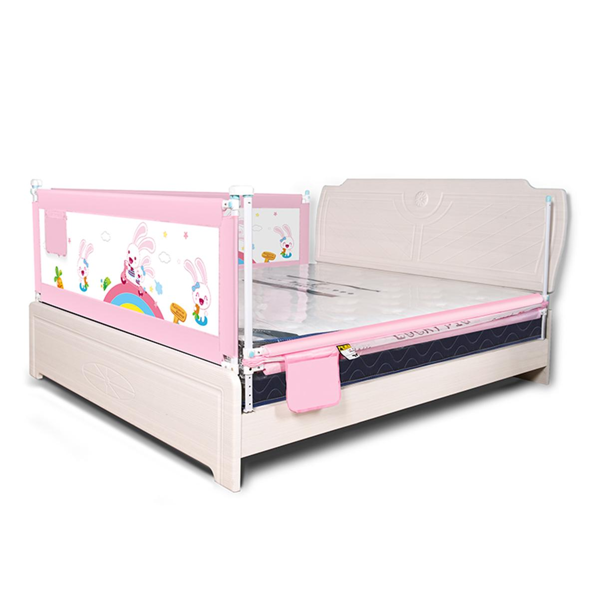 1.5m-2m Baby Bed Fence Home Kids Playpen Safety Gate Child Care Barrier For Beds Crib Rails Security Fencing Baby Safe Guard