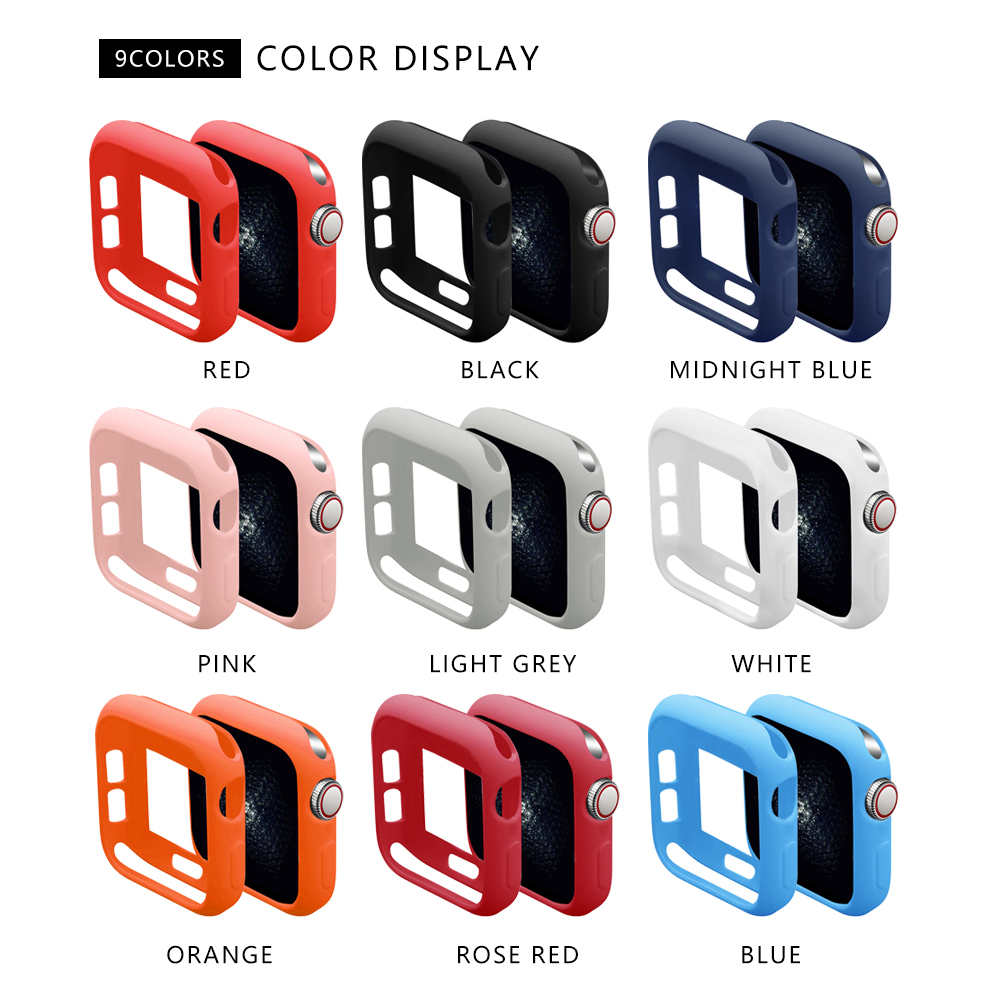 Soft Silicone Case For Apple Watch Band Series 5 40MM 44MM IWatch Bracelet Series 1 2 3 4 Protection 42mm 38mm Strap Accessories