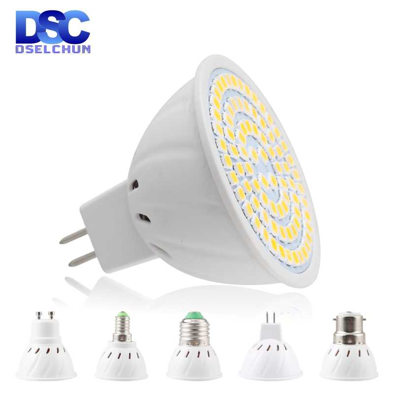 Lampada LED SpotlightหลอดไฟE27 E14 MR16 GU10 B22 220V BombillasหลอดไฟLED 48 60 80 LED 2835 SMD lampara 3W 4W 5W