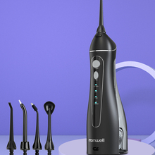 Oral-Irrigator Nozzles Water-Flosser Travel-Bag Mornwell Rechargeable with USB 200ml