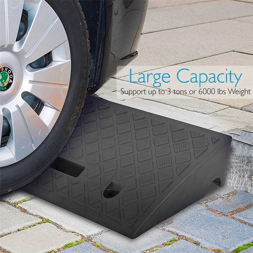 Portable Lightweight Vehicle Ramp Plastic Curb Deceleration Ramp Pad Heavy Duty Plastic Threshold Ramp Kit Set