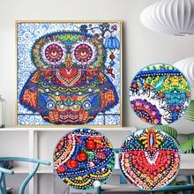 New Owl Pattern 5d DIY Diamond Painting Shinny Round Beads Diamond Mosaic Picture Of Rhinestone Embroidery Cross Stitch LN147