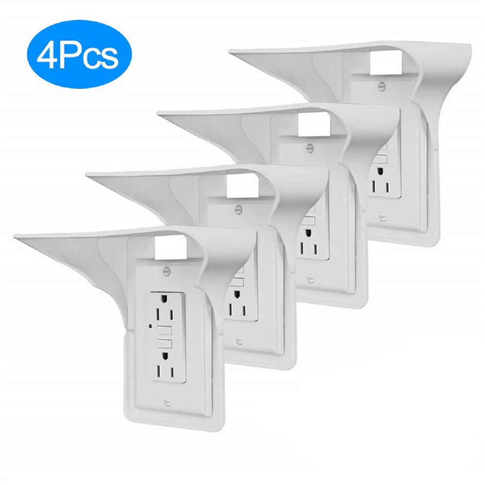 Storage Easy Install Organizer Mobile Charging Hardware Multifunction Stand Power Perch Wall Mount Simple Outlet Shelf Bathroom