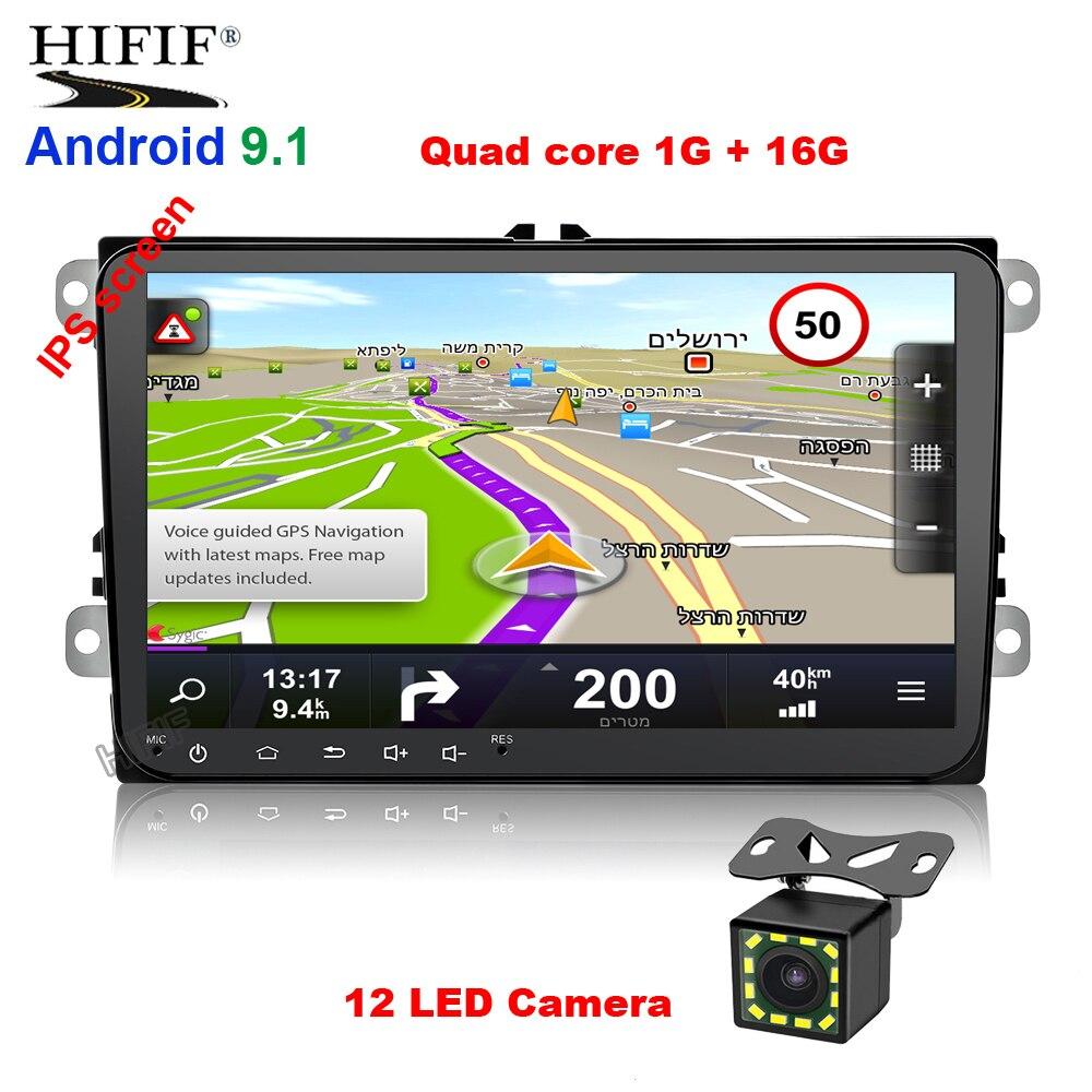 Ips 2 din 9 ''Android 9,0 2G/1G ram автомобильное радио стерео gps Navi для VW Passat B6 CC Polo GOLF 5 6 Touran Jetta Tiguan Magotan Seat