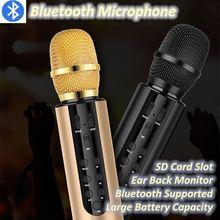 M6 беспроводной конденсаторный микрофон ручной беспроводной микрофон для караоке с окруженным звуком динамик микрофон Поддержка Bluetooth