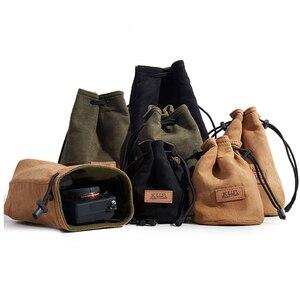 Image 2 - Camera Retro Protector Case Soft Bag Pouch for Canon Nikon Sony Pentax DSLR &  Mirrorless Camera  70D 5D3 D800 D5300 A7R2 XT 20