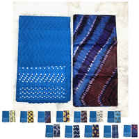New swiss voile lace in switzerland african bazin riche blue lace Tie dyeing guinea brocade fabric 2.5yard+5yards/set