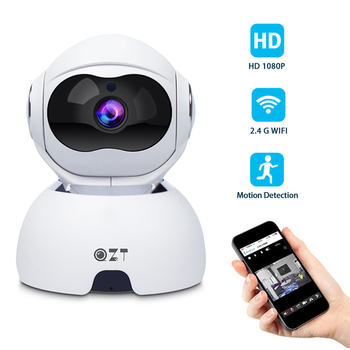 QZT Dome Wifi IP Camera 1080P Wireless Infrared Night Vision Camera Indoor 360° Baby Monitor IP Dog Pet Camera For Home Security qzt wifi surveillance cctv camera 1080p wireless baby monitor indoor infrared night vision camera ip wifi security camera 1080p