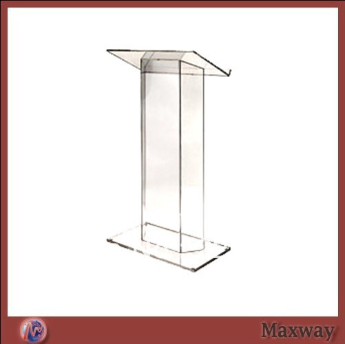 Transparent Acrylic School Lectern Plexiglass