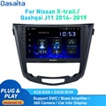 Dasaita Android 10 автомобильное радио GPS для Nissan X-Trail J11 Qashqai Rouge мультимедиа 2014 -2019 DSP HD IPS 1280*720 Carplay 4 Гб + 64 ГБ