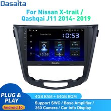 Dasaita Android 10 Auto Radio Gps Voor Nissan X-Trail J11 Qashqai Rouge Multimedia 2014 -2019 Dsp Hd ips 1280*720 Carplay 4Gb + 64Gb