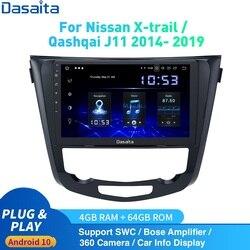 Dasaita Android 10 Car Radio GPS for Nissan X-Trail J11 Qashqai Rouge multimedia 2014 -2019 DSP HD IPS 1280*720 Carplay 4Gb+64Gb