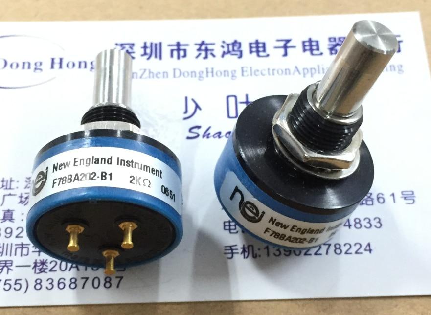 1 pces F78BA202-B1 potenciômetro plástico condutor 2 k stepless 360 graus