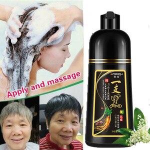 Шампунь для волос 1 бутылка/500 мл имбирный черный не аллергический краситель для волос Питательный кондиционер шампуни белый окрашивание волос в черный